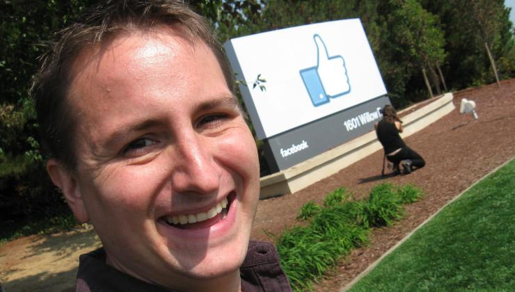 Peter Kowalke at Facebook headquarters
